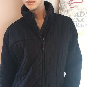 Black Columbia Winter Coat Large Lg L